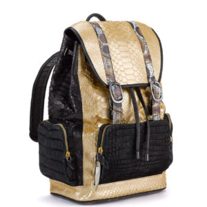 Fingerprint of the Soul Gold Python with Black Alligator Pockets