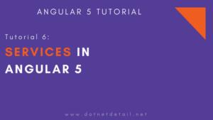 angular 5 tutorial services