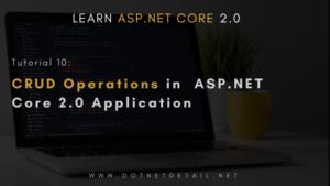 asp net core crud operations