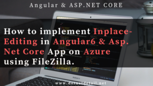 Inline editing in angular 6 & asp net core application