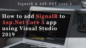 add signalr to asp.net core 3.0