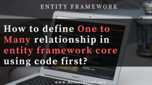 define one to many relationship in entity framework code first