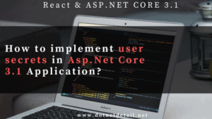 user secrets in asp.net core 3.1