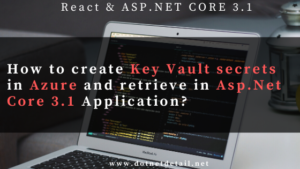 Key vault secrets in Asp.Net Core 3.1