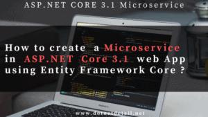 Asp.Net Core 3.1 Microservice