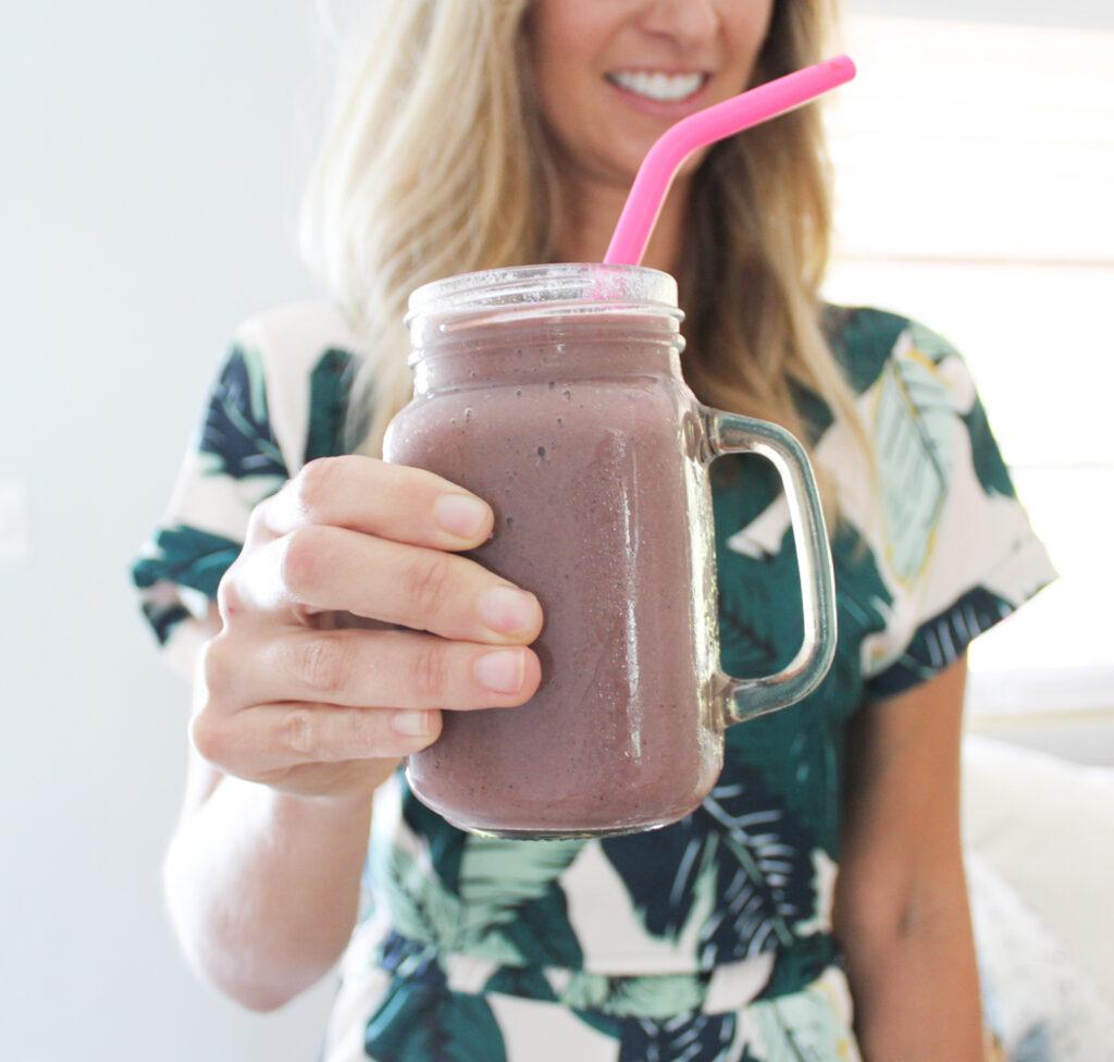 blueberry banana protein shake