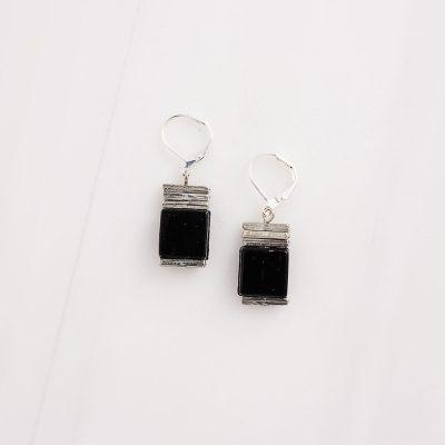 Borawli Noir Black Earrings