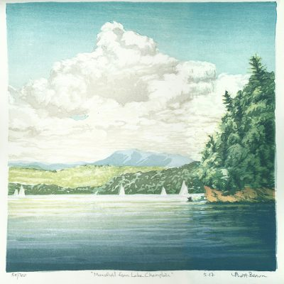 Mansfield above Lake Champlain