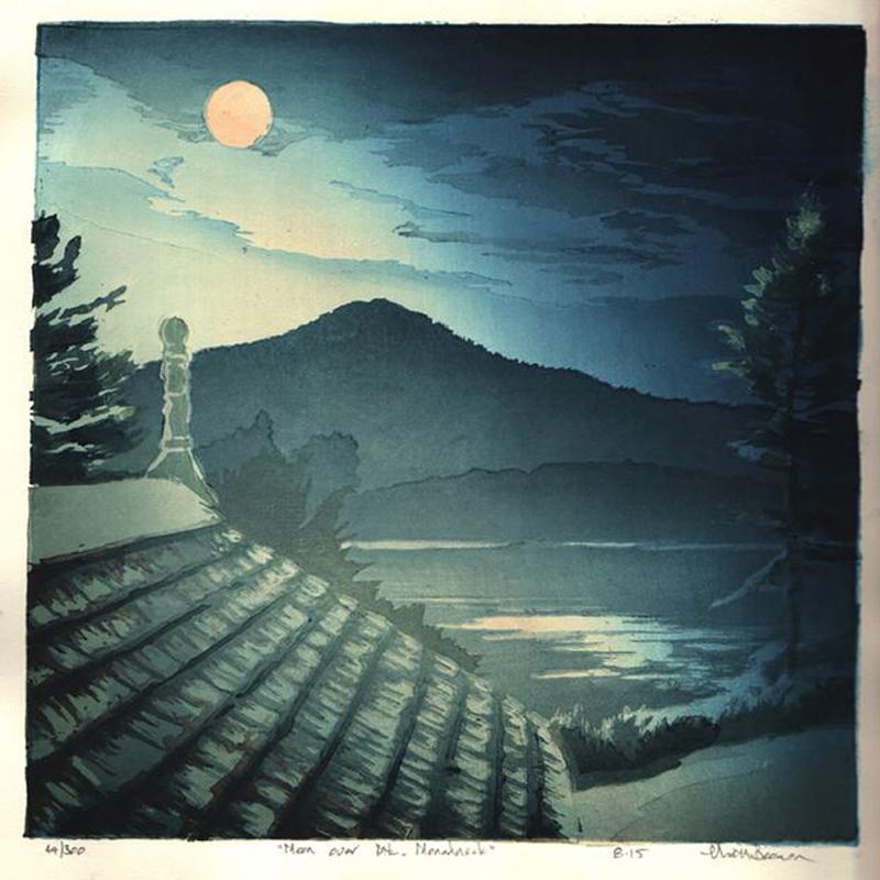 Moon Over Mt Monadnock