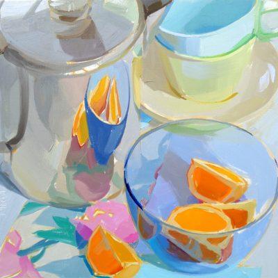 Coffee Pot and Orange