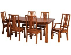 eastchester thick top table in michaels on cherry with adams chairs