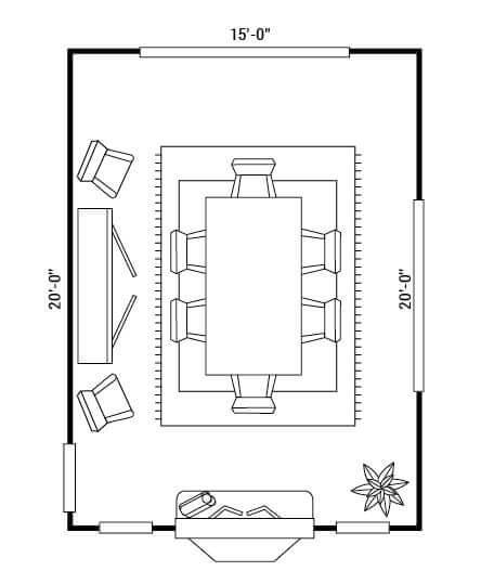 floor-plan-x6 for custom dining