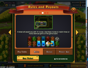 Rules & Paytable