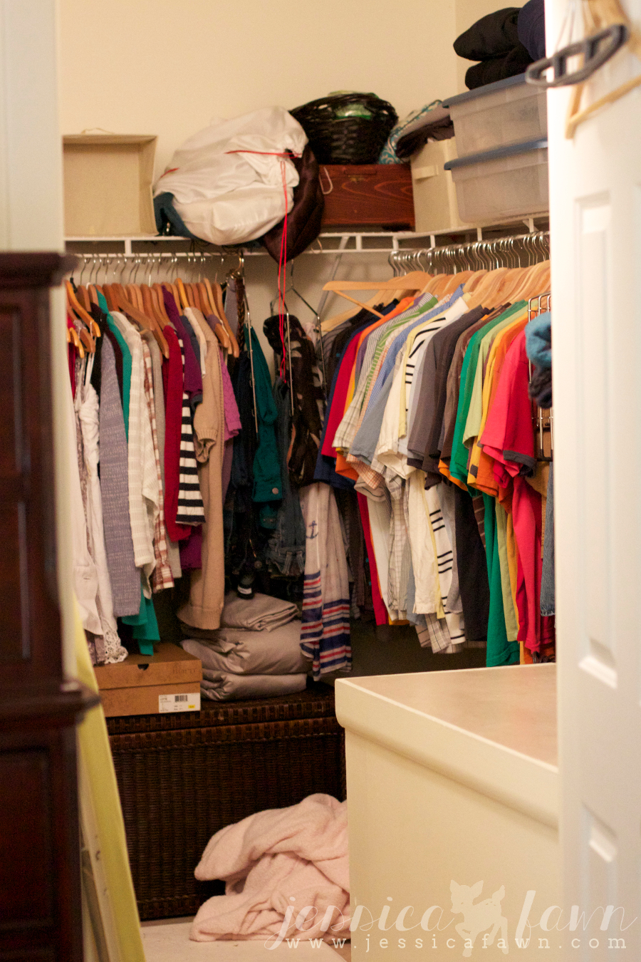 Let's Get Organized Linkup- Master Bedroom Closet | JessicaFawn.com
