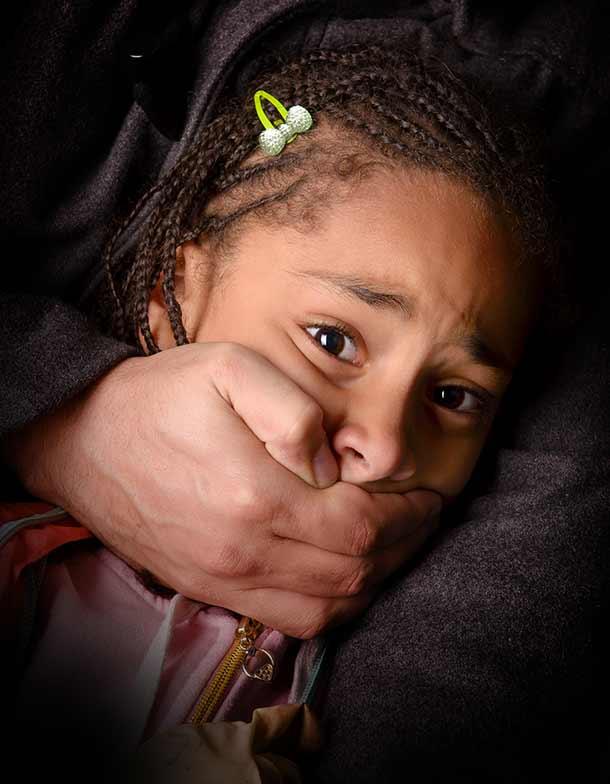 Child abduction awareness image