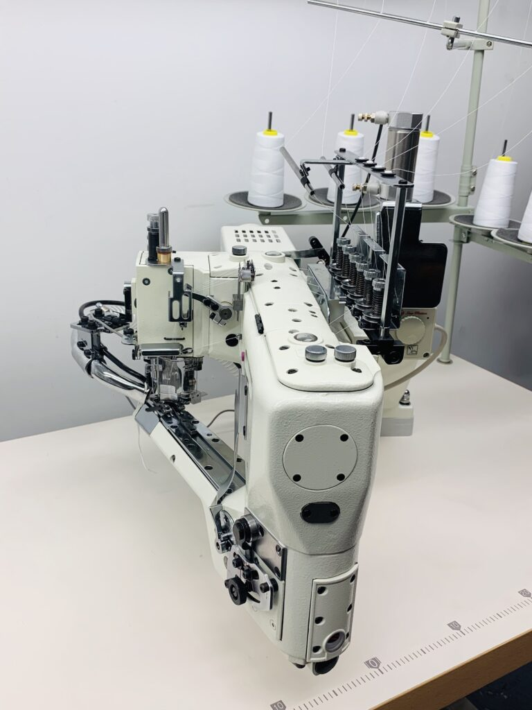 Kansai Special NFS 6604GFMG-DD60  4 needle, 6 thread, feed-off-the-arm, top and bottom cover stitch machine.