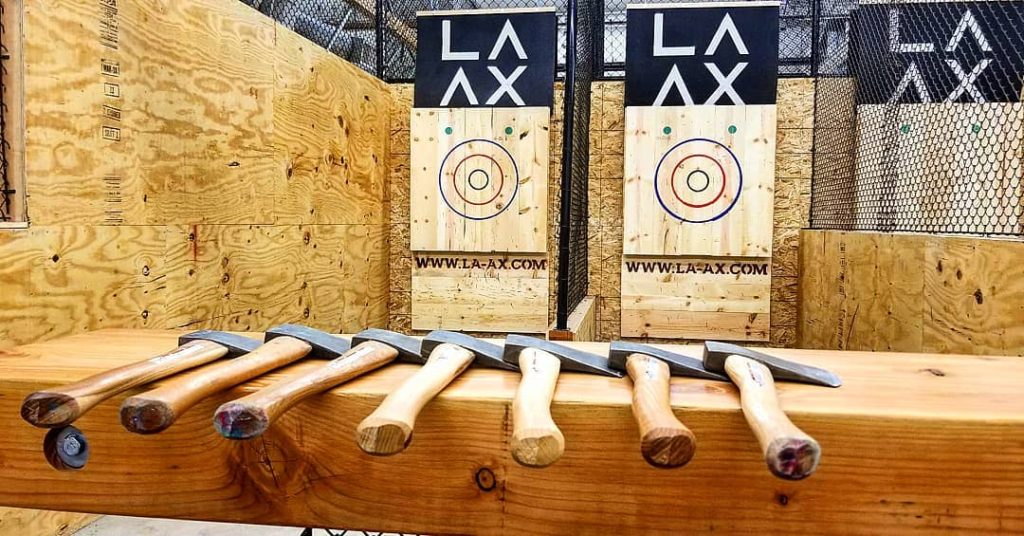 book now ax throwing