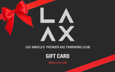 LAAX Axe Throwing E Gift Cards