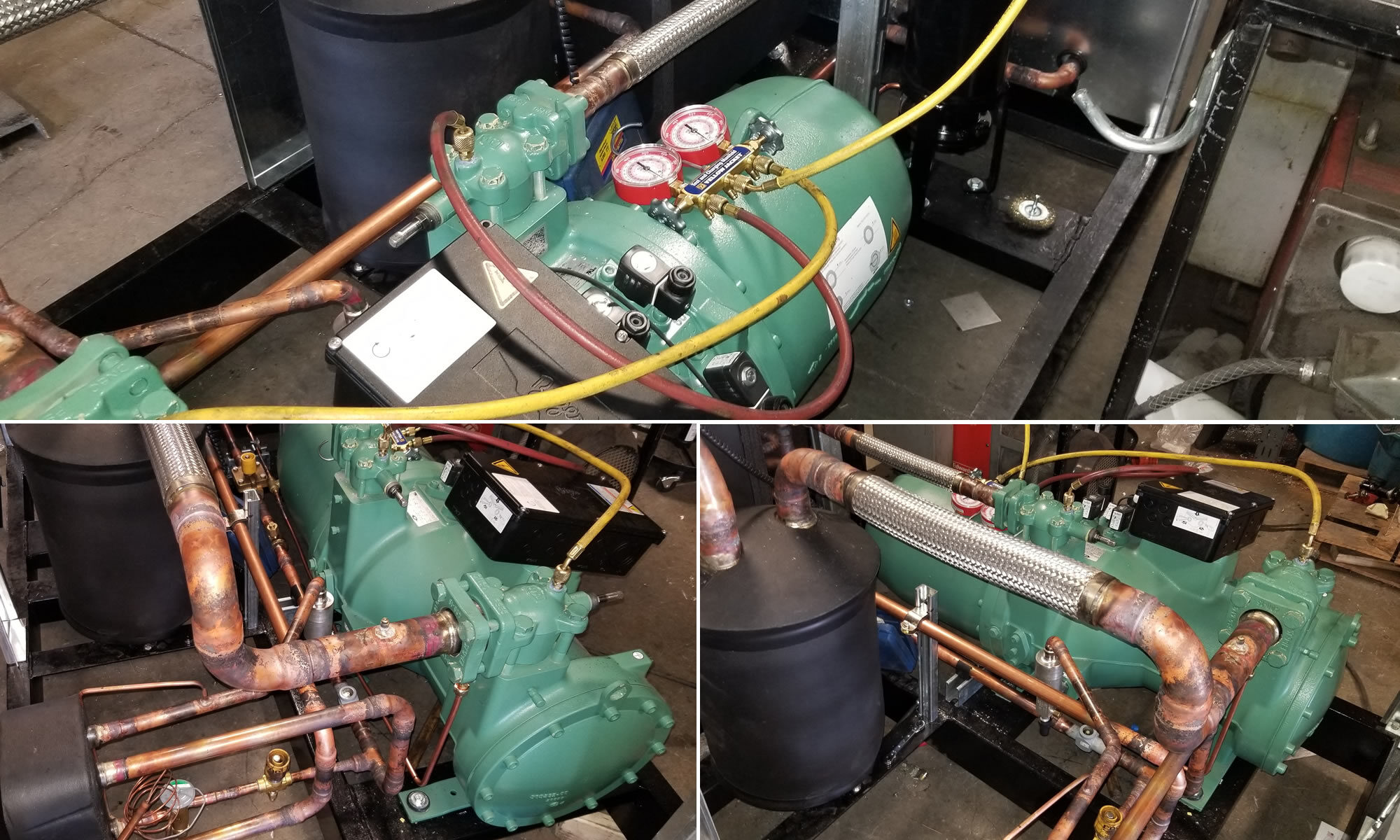Screw Chiller For Skating, Curling and Ice Hockey Rinks