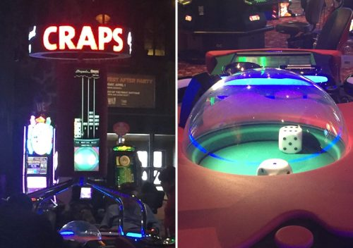 Bubble craps at Wild Wild West Casino.