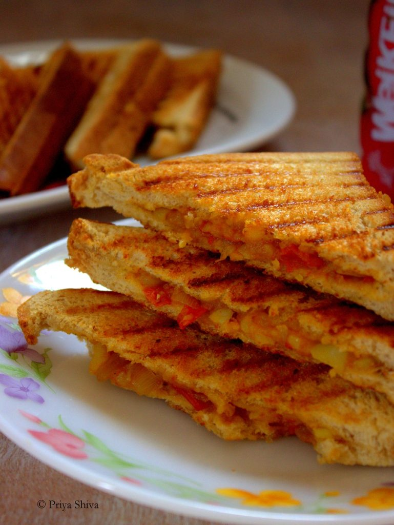 vegan potato sandwich