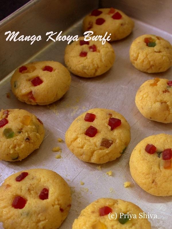 mango khoya Burfi