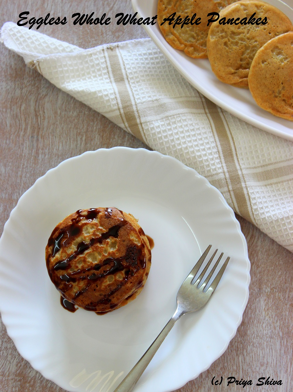 eggless apple pancakes