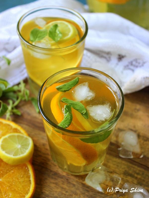 Iced Green Tea - Citrus Detox drink