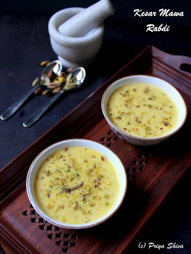 kesar Mawa rabri, rabdi, sweet, recipe