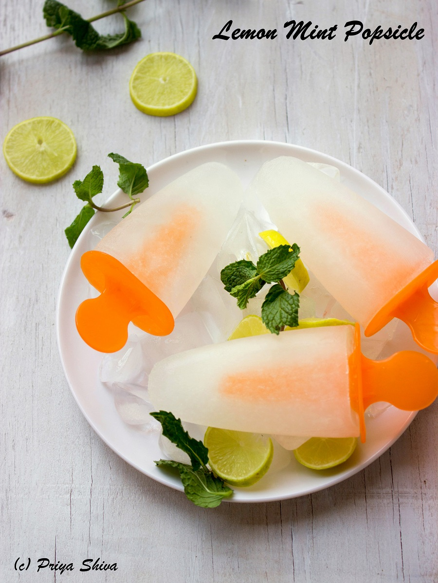 Lemon Mint Popsicle recipe