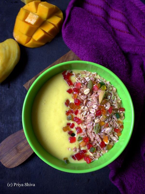 Jackfruit Mango breakfast Smoothie Bowl recipe
