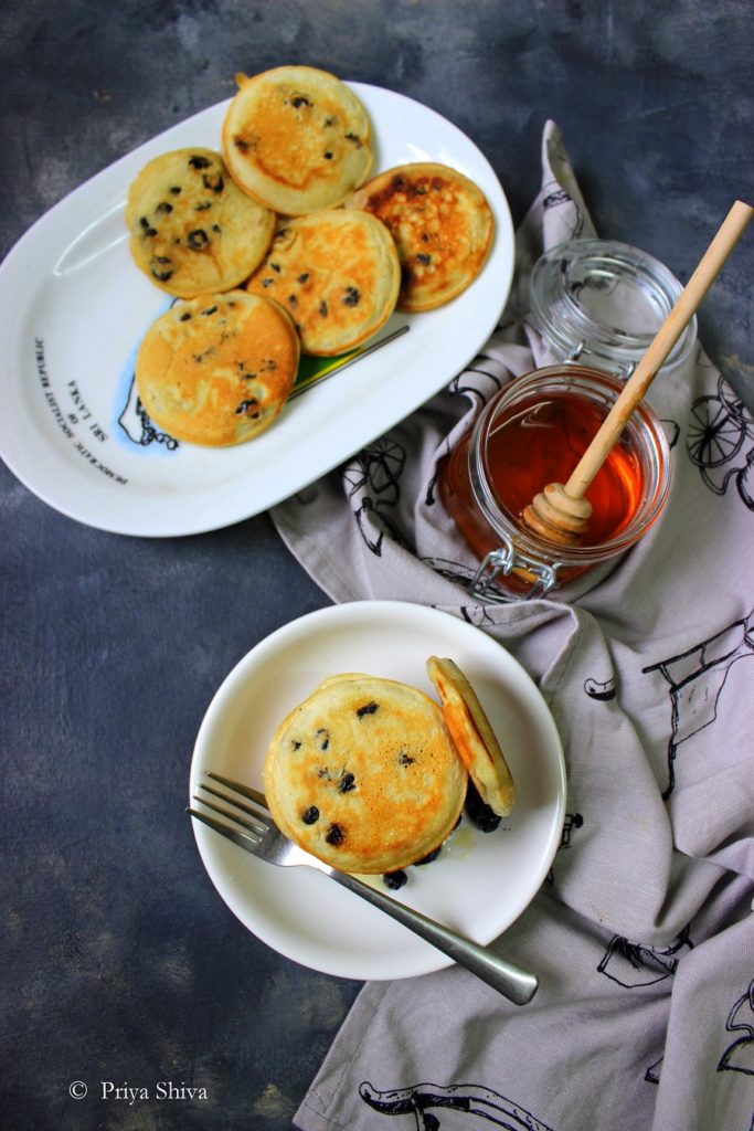 eggless blueberry pancake recipe
