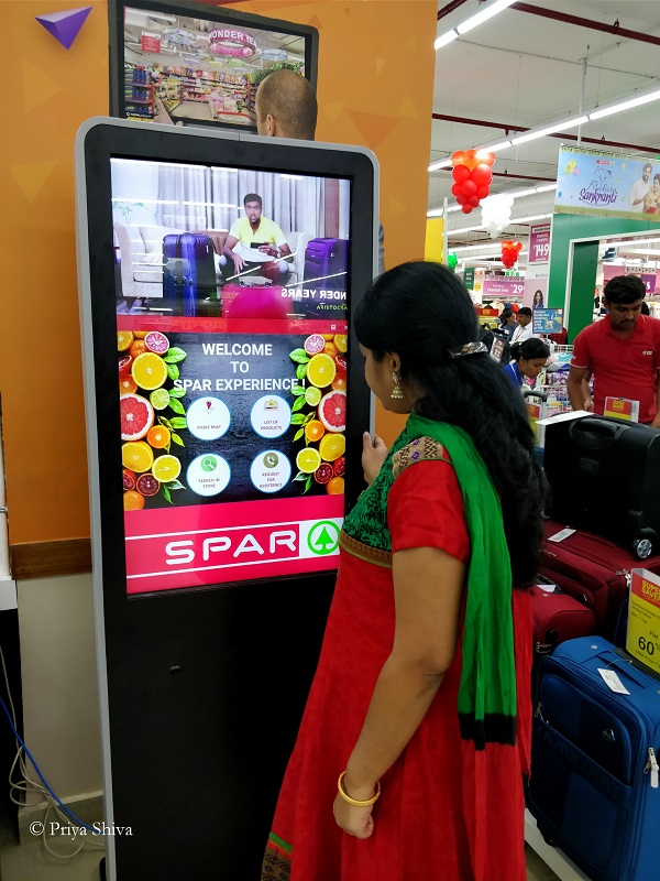 Spar Hypermarket self assist kiosk
