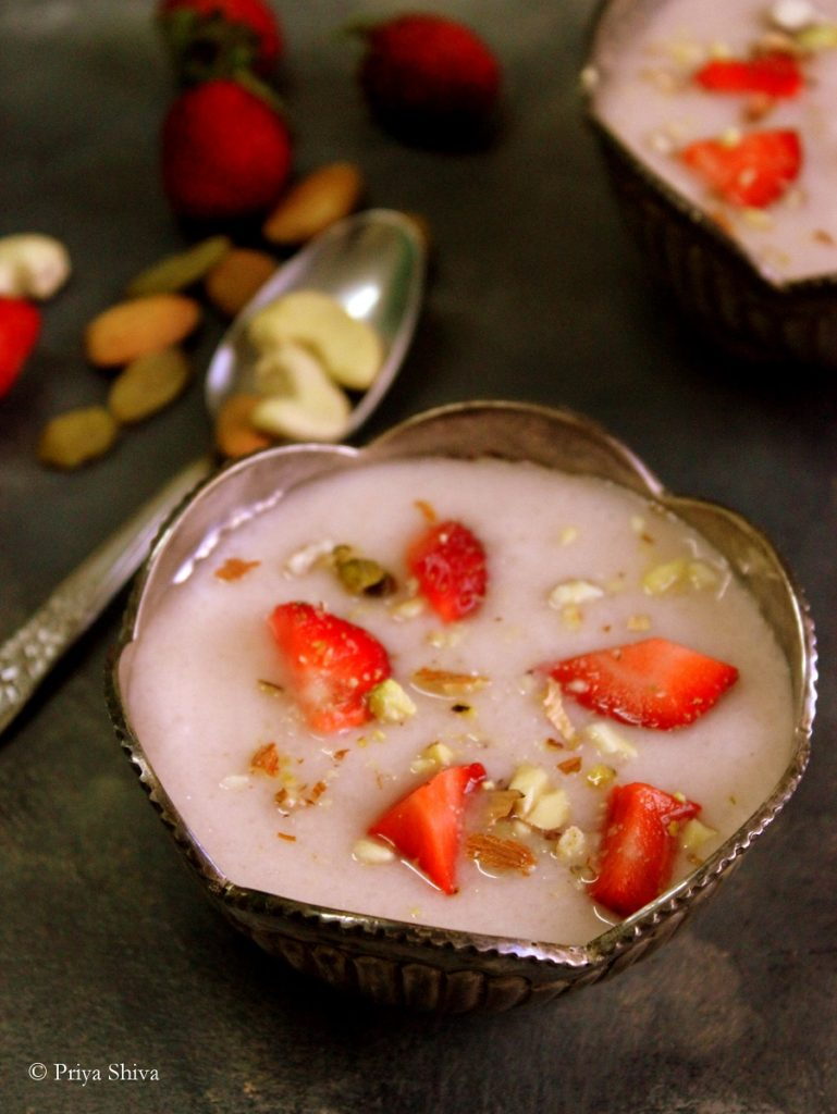 strawberry phirni recipe