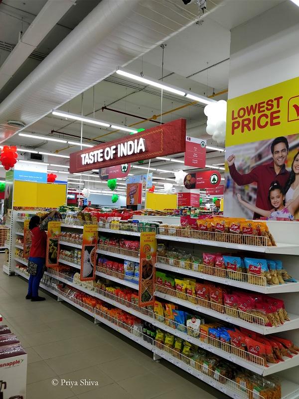 taste of India - spar hypermarket