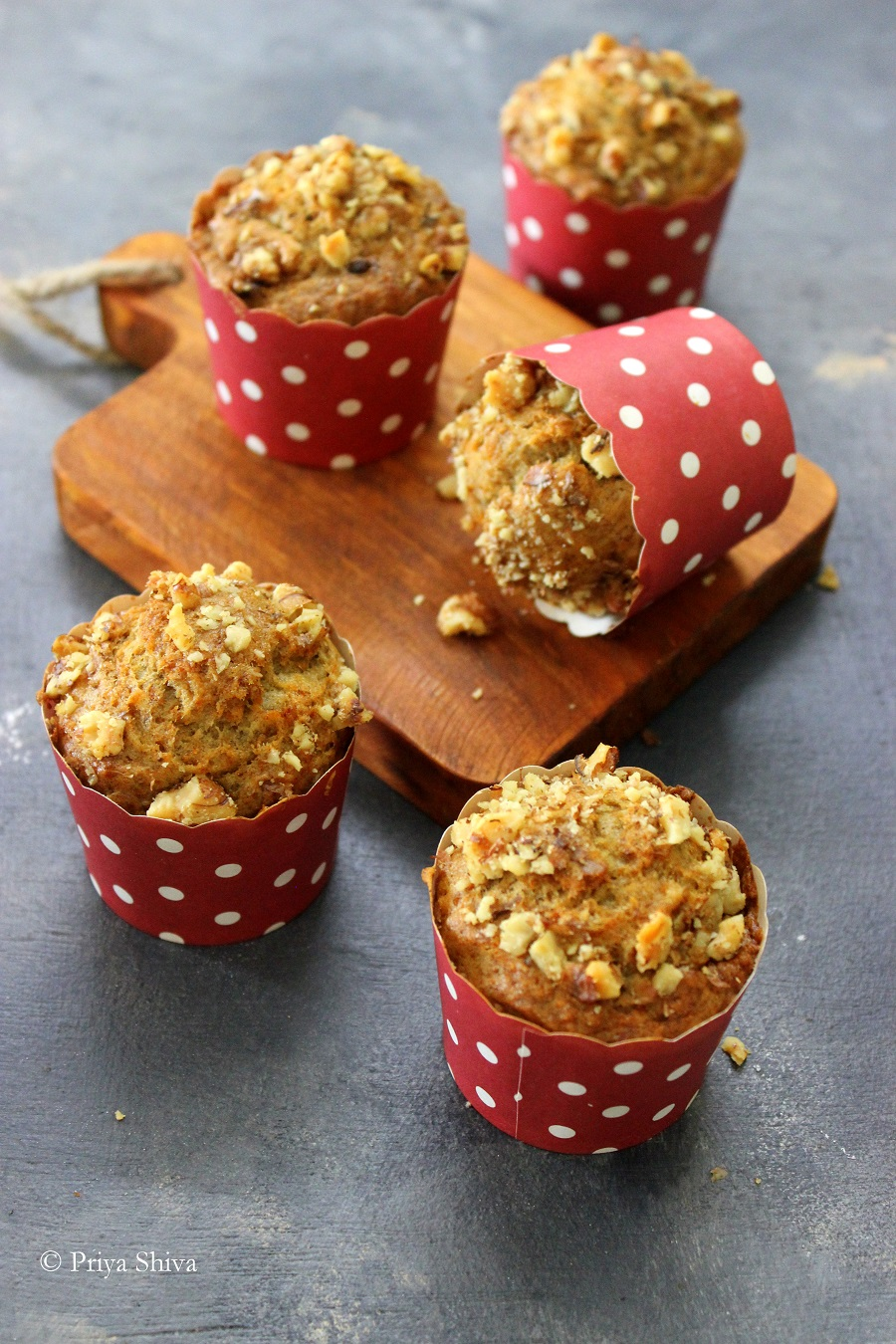 eggless carrot banana muffin