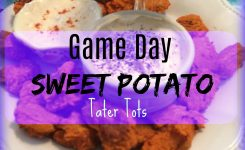 No Guilt Game Day Appetizer-Sweet Potato Tater Tots With Sauces!