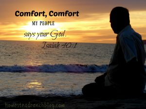 Comfort in overwhelmed world