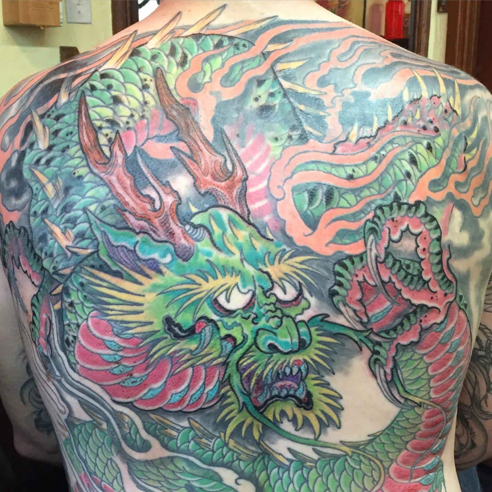 Japanese dragon back piece
