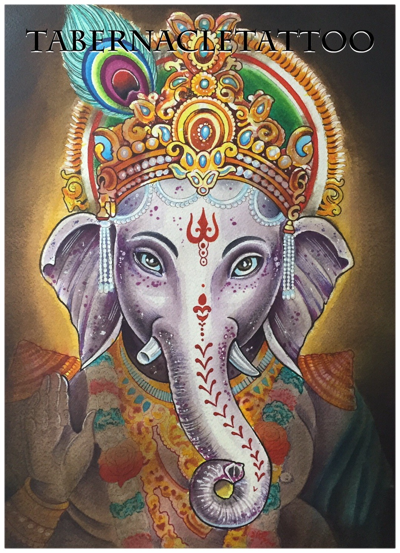 Ganesha tattoo design