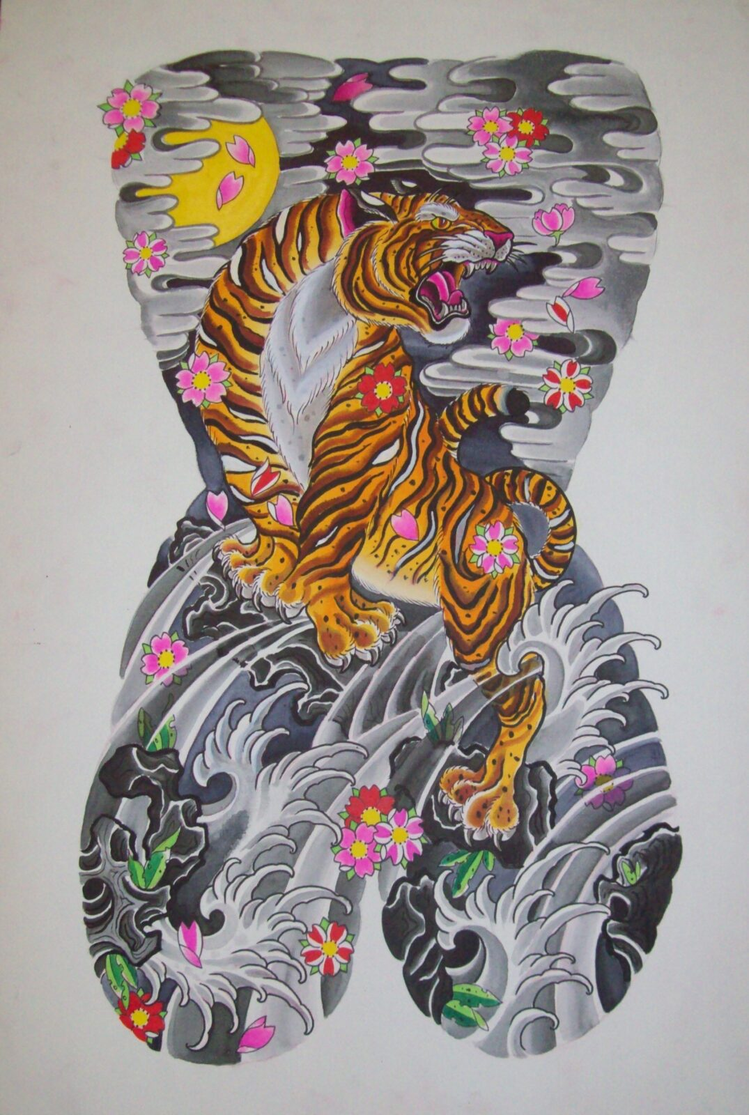 Japanese  Tiger Body Suit Painting
