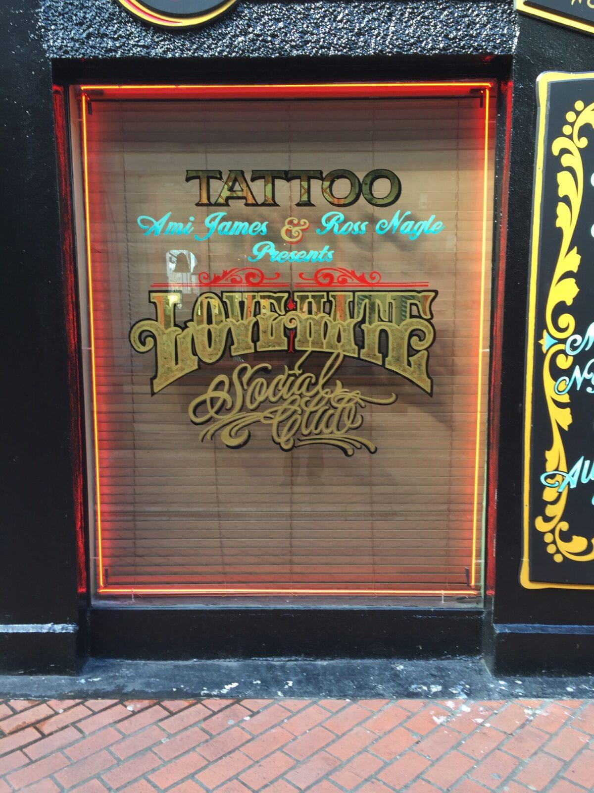 Love Hate social club tattoo in Ireland