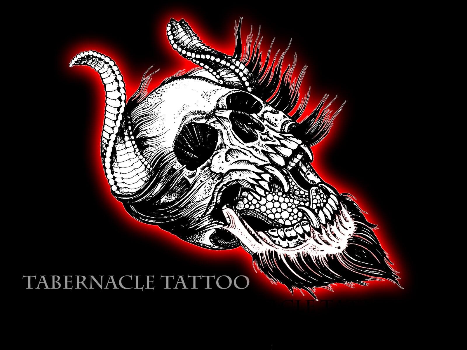 devil skull design tattoo art| Tattoo Ideas