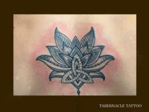 Dot work tattoo Tampa FL, Tabernacle tattoo
