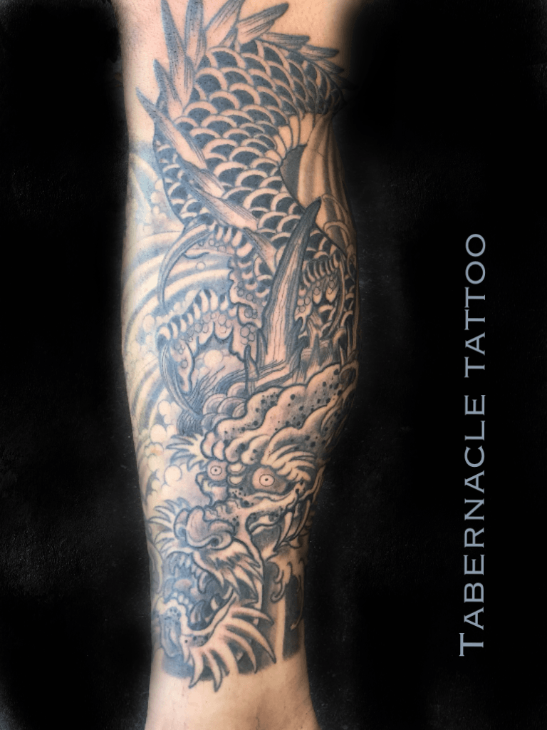 Japanese tattoo, dragon tattoo, ryu