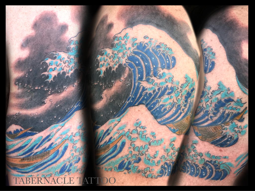 The Great Wave of Kanagawa| Hokusai| Great wave tattoo| Kanagawa tattoo