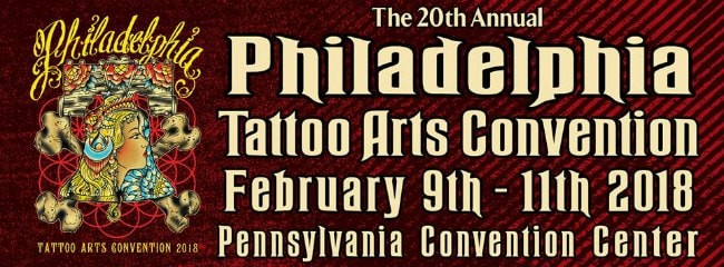 Philadelphia Tattoo arts convention February 2018.