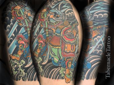 Samurai half sleeve