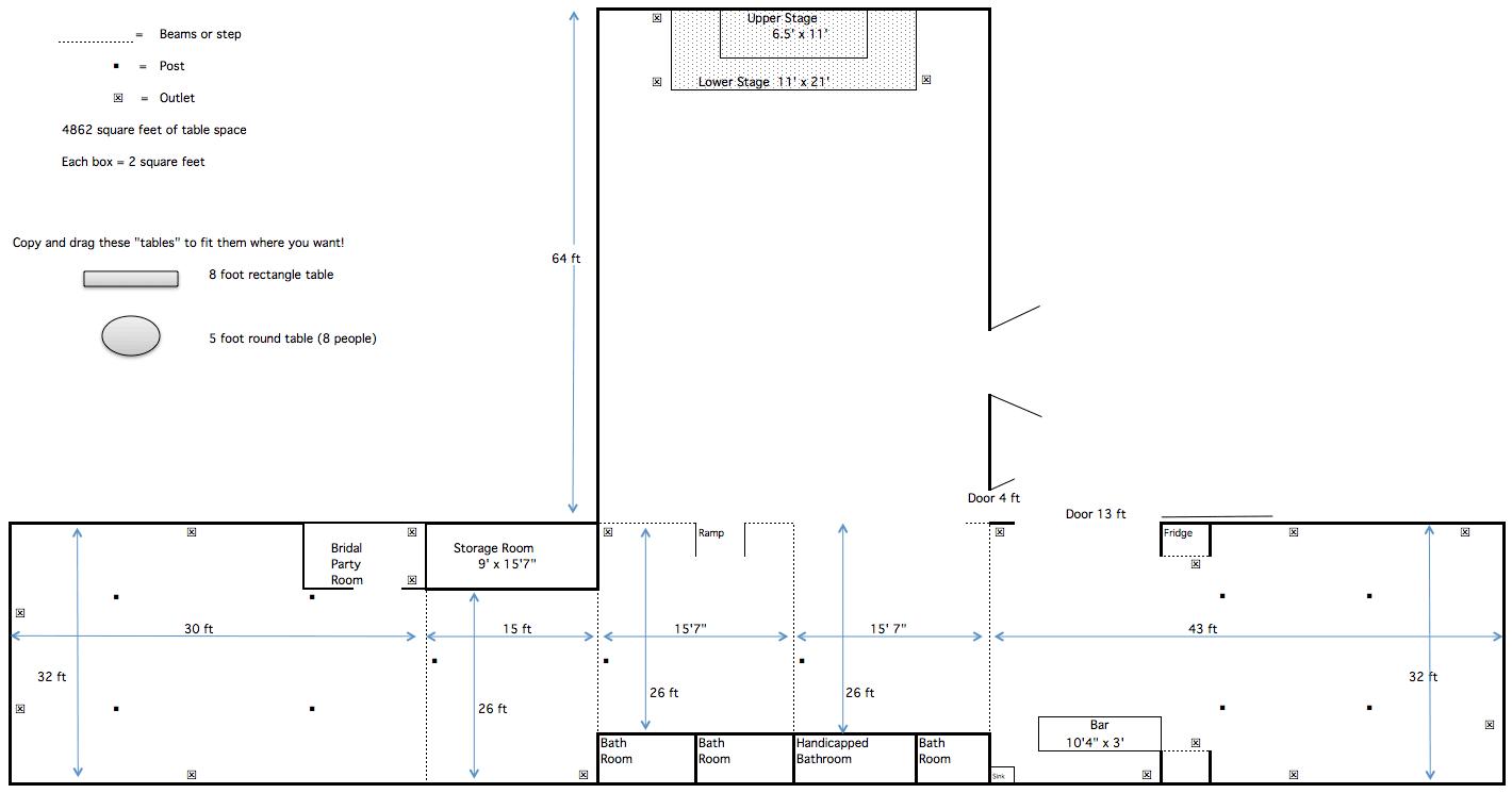 floorplan of barn