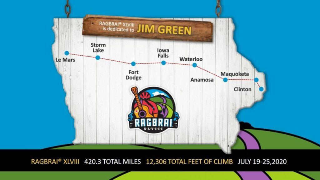 map for RAGBRAI
